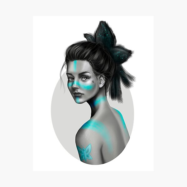 Blue Ballerina Photographic Print