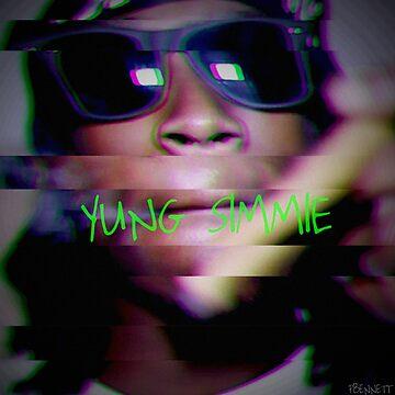 "Yung Simmie ""Glitch"" Graphic by ParkerKhalifa"
