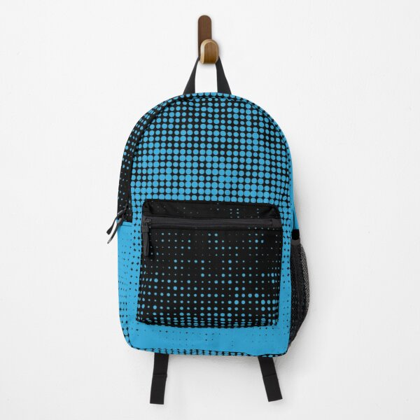 Pattern Blue Black  Backpack