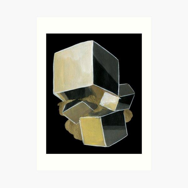 Pyrite - Cubic Crystal Art Print