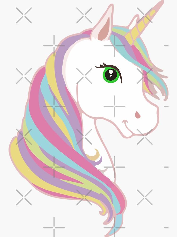 Unicorn Sticker by stickysterscom