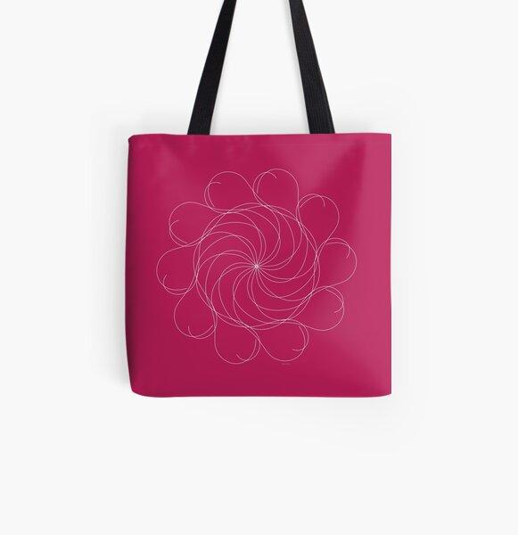 Ornament – Turning Flower Allover-Print Tote Bag