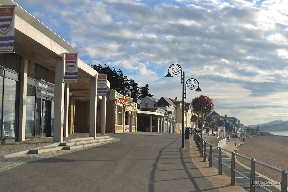 Empty Seafront at Lyme, Dorset, UK by lynn carter