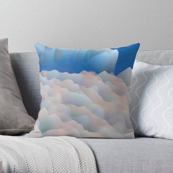 Multicolored unique everlasting pattern. Abstract artwork collection design file 048 Throw Pillow