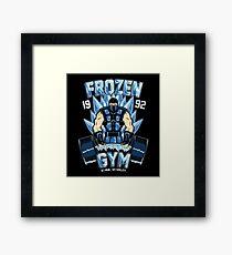 Frozen Gym Framed Print