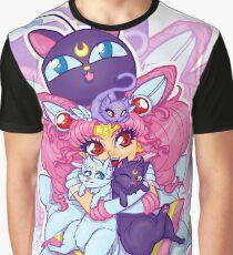 Sailor Mini Moon & Space Kitties Graphic T-Shirt