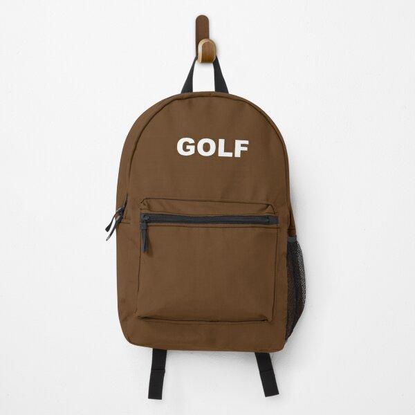 Golf Logo Brown Backpack