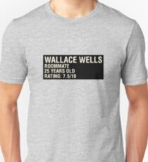 Scott Pilgrim - Wallace Wells' Name Card Unisex T-Shirt