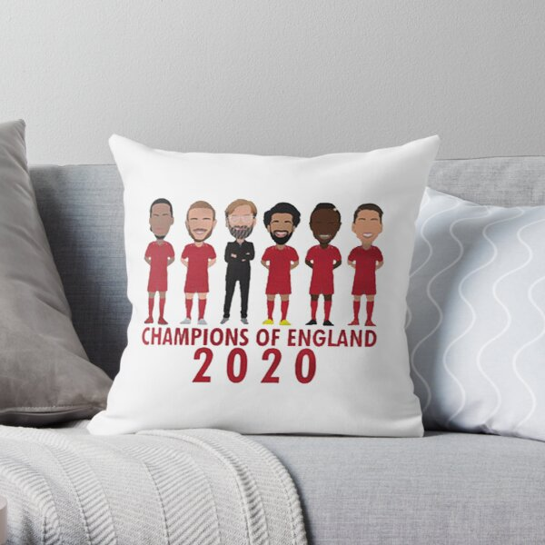 Liverpool champions of 2020  Throw Pillow