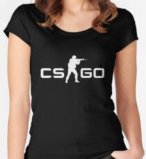 CSGO - White Women's Fitted Scoop T-Shirt