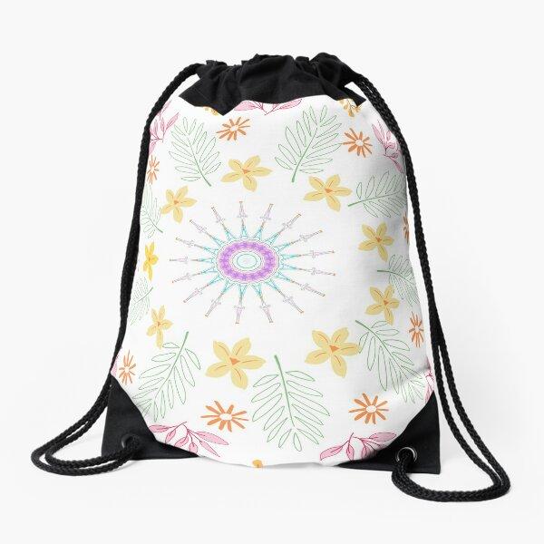 Summer print Drawstring Bag