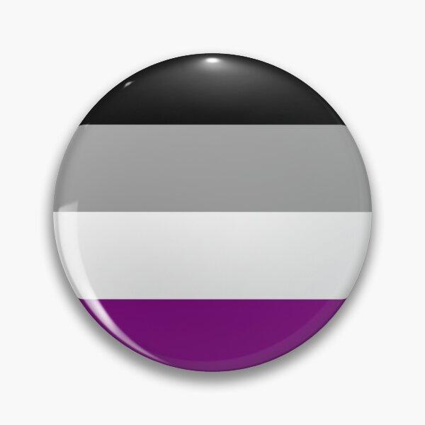 Asexual Flag - Button Pin
