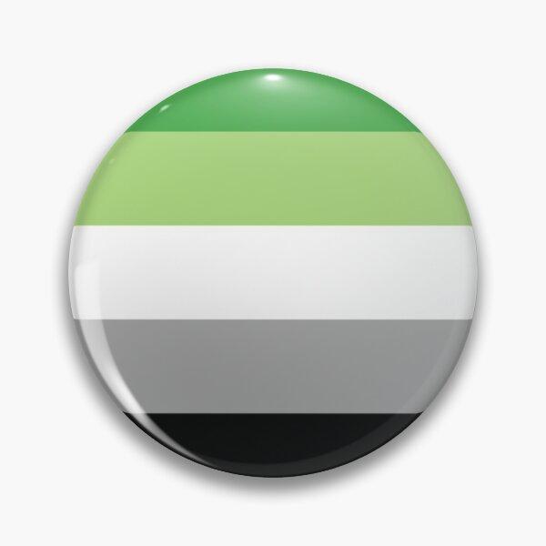 Aromantic Flag - Button Pin