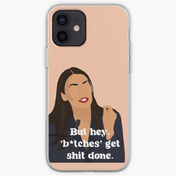 Citation féministe AOC Coque souple iPhone