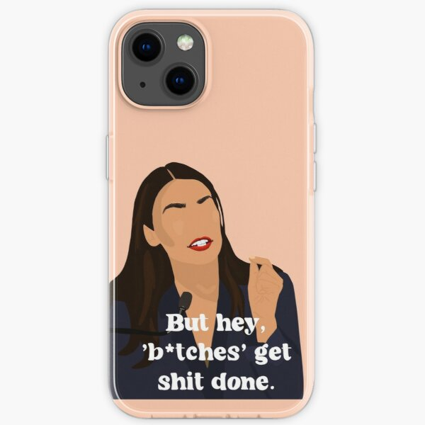 AOC feminist quote iPhone Soft Case