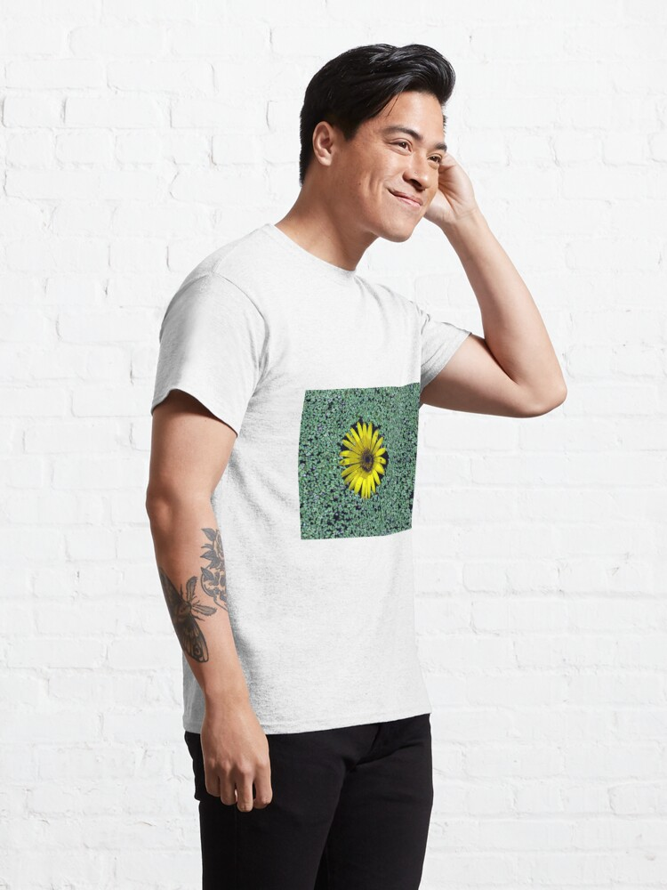 Alternate view of Yellow Flower in Duckweed with Three Little BUGS Classic T-Shirt