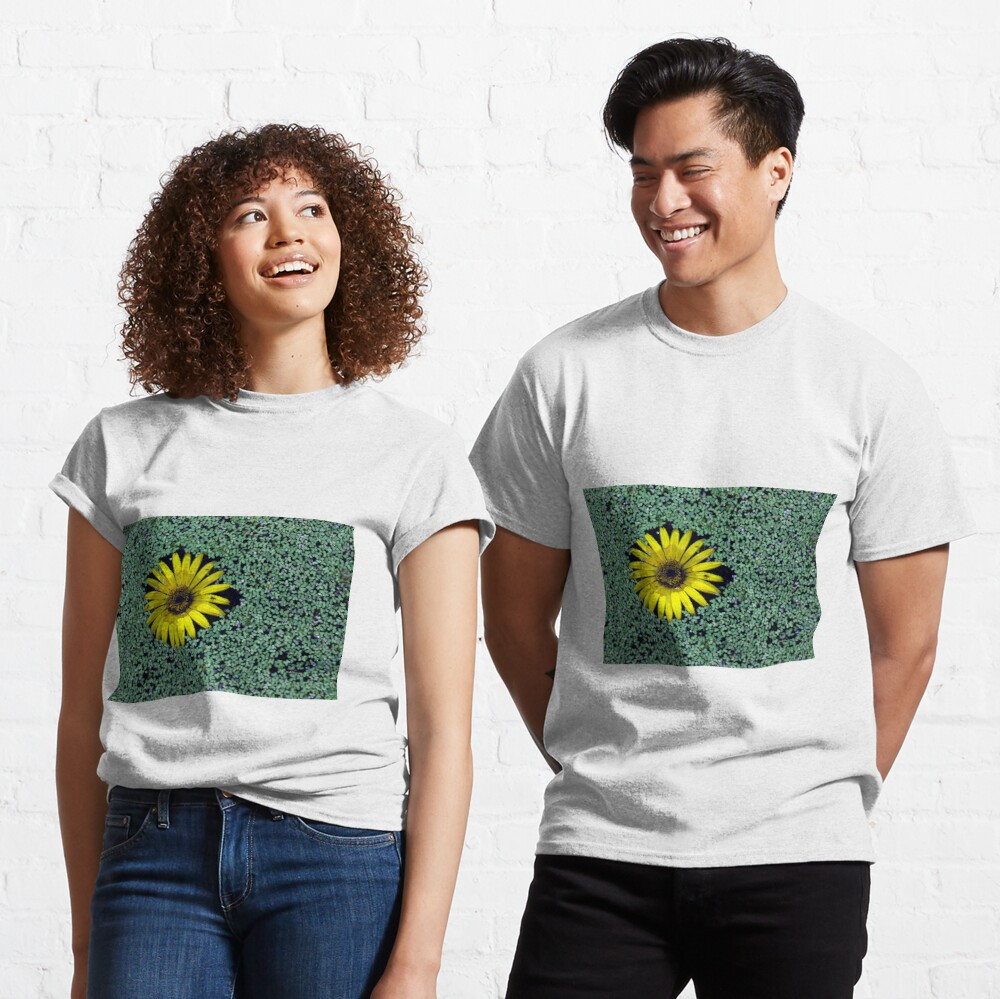Yellow Flower in Duckweed with Three Little BUGS Classic T-Shirt