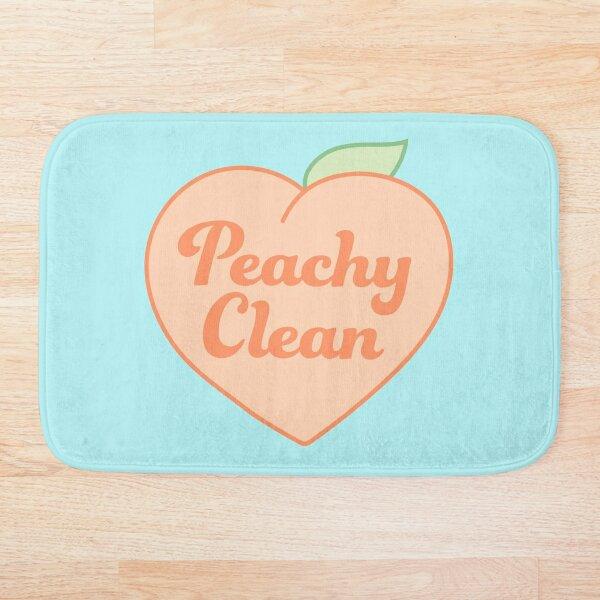 peachy clean heart Bath Mat