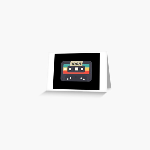 1969 Cassette Tape born in birth year Greeting Card