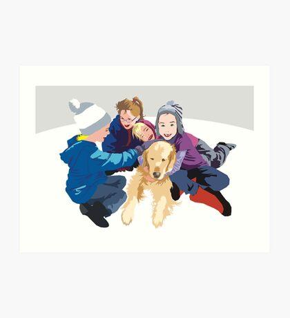 Snowball and friends Art Print