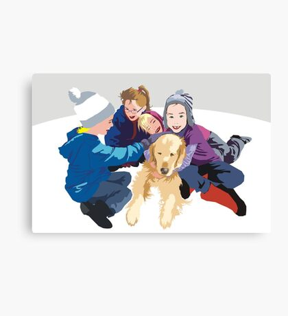 Snowball and friends Canvas Print