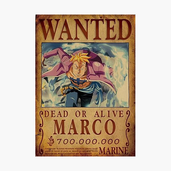 Marco one piece wanted Photographic Print