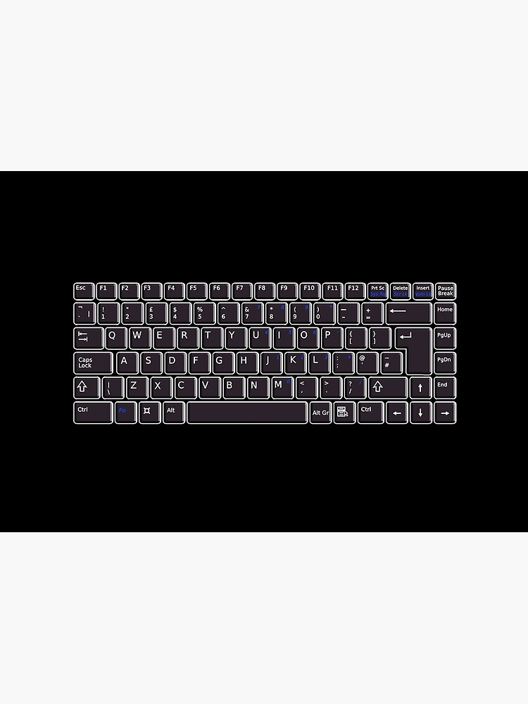TEXT. TYPING. Keyboard. Computer, Electronic. Black On Black. by TOMSREDBUBBLE