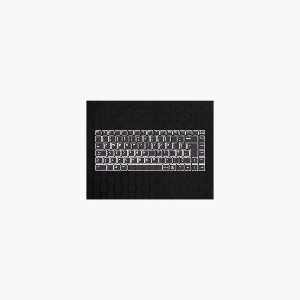 TEXT. TYPING. Keyboard. Computer, Electronic. Black On Black. Jigsaw Puzzle