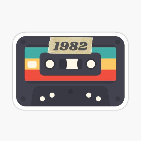 1982 Cassette Tape born in birth year Sticker
