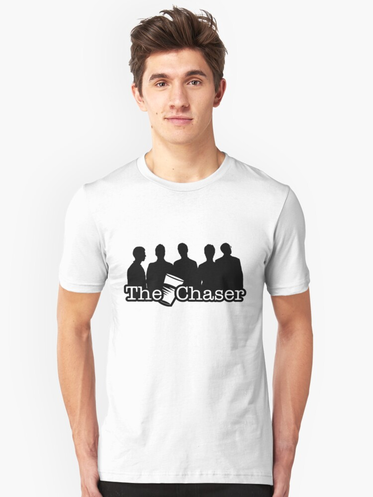 The Chaser Logo and Members Unisex T-Shirt Front