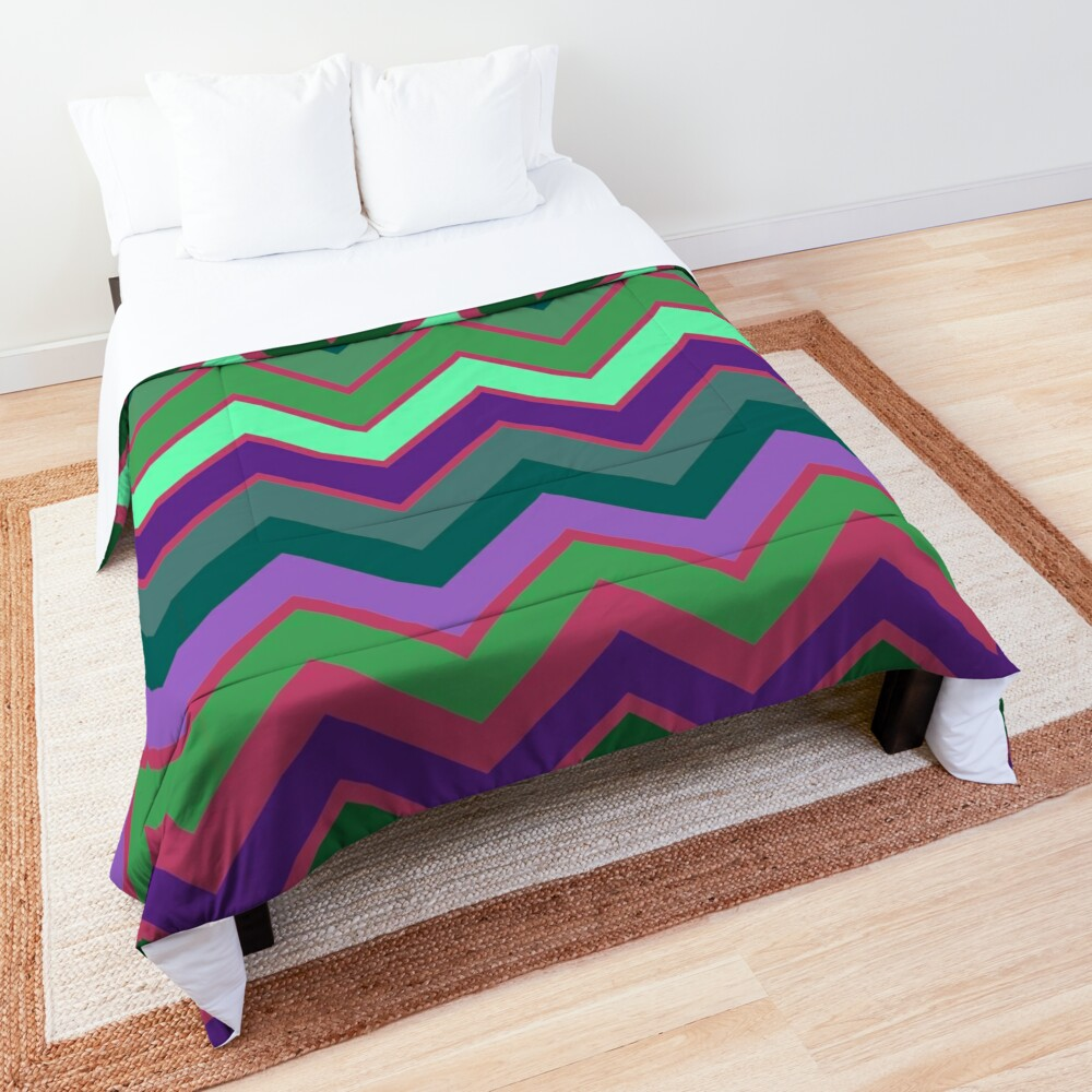 Cute Retro Stripe Decor Pattern Comforter