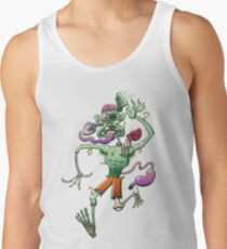 Zombie in Trouble Falling Apart Men's Tank Top