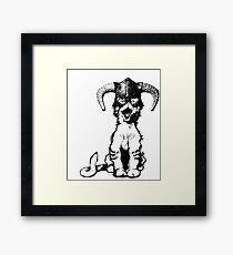 Dragonborn Kitty Framed Print