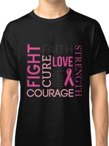 Breast Cancer Words Classic T-Shirt
