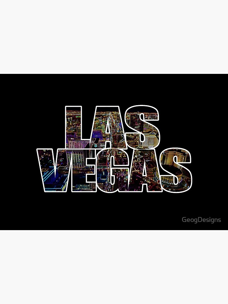 Las Vegas lettering Neon Black Edition by GeogDesigns