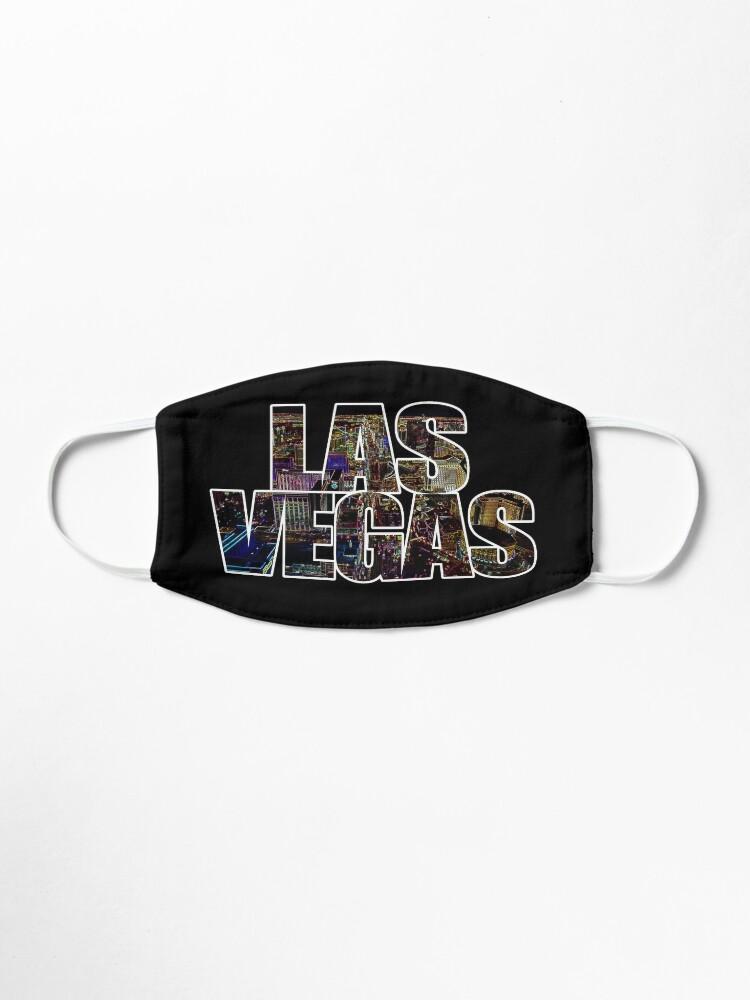 Alternate view of Las Vegas lettering Neon Black Edition Mask