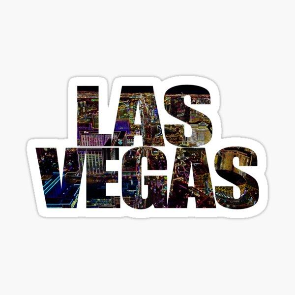 Las Vegas lettering Neon Black Edition Sticker