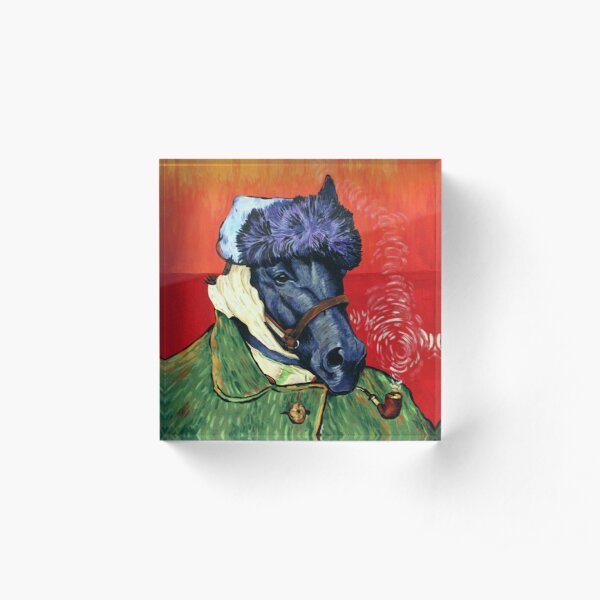 Seattle Slew Portrait with Bandaged Ear and Pipe Acrylic Block