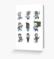 Blu Team!! Greeting Card
