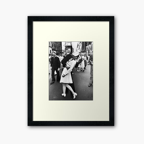 Times Square V/J-Day Kiss Framed Art Print