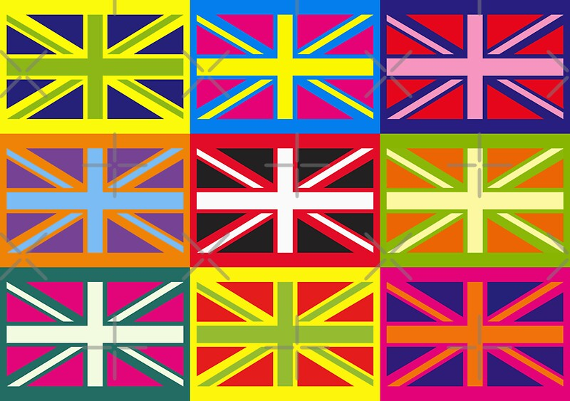 Quot Flag United Kingdom Andy Warhol Pop Art Quot Canvas Prints By