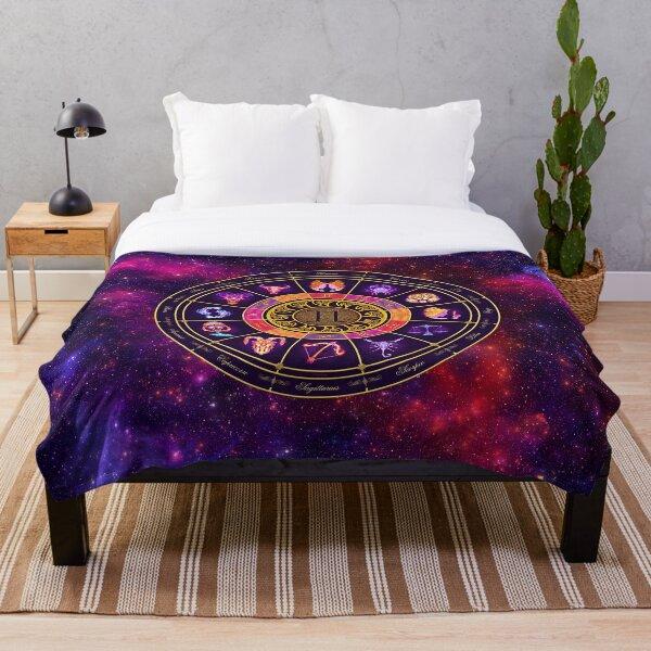 Gemini Zodiac Lightburst - Circle Throw Blanket