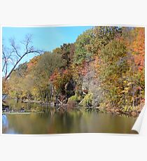 Grand River in Autumn Poster