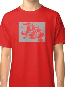 Red textured flowers. Classic T-Shirt