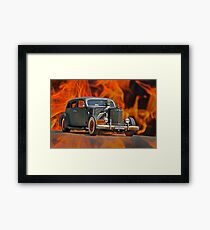 1938 Cadillac 'Lucifer's Limo' Framed Print