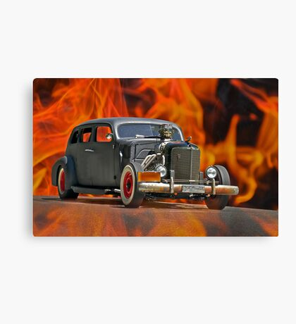 1938 Cadillac 'Lucifer's Limo' Canvas Print