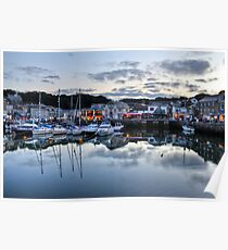 Dusk Over a Cornish Harbour Poster