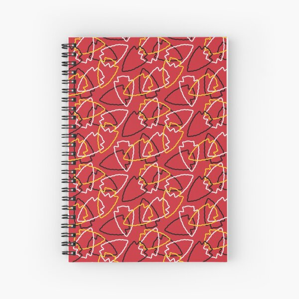 Chiefs Arrowhead Pattern on Red Spiral Notebook