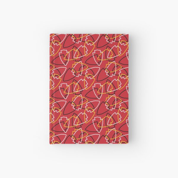 Chiefs Arrowhead Pattern on Red Hardcover Journal