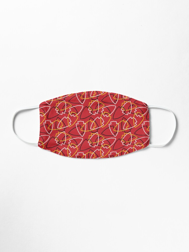 Alternate view of Chiefs Arrowhead Pattern on Red Mask